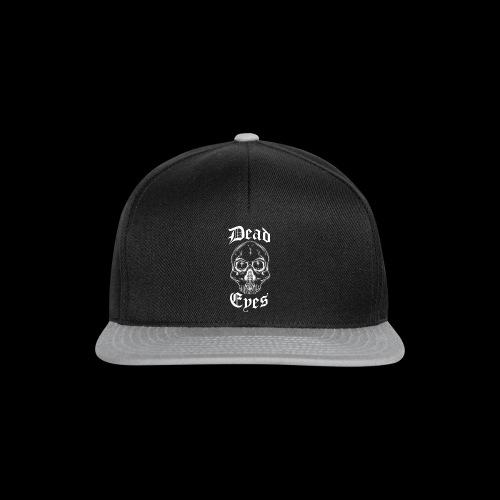 dead eyes logo transparent2 weiß - Snapback Cap
