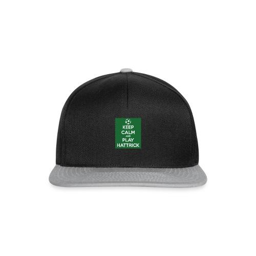 keep calm and play hattrick - Snapback Cap