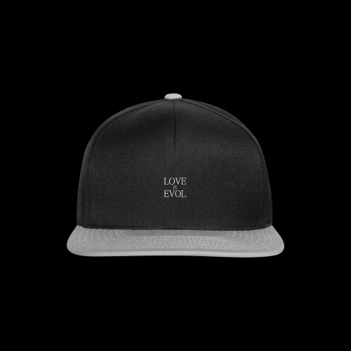 LOVE IS EVOL WHITE ON BLVCK - Snapback Cap