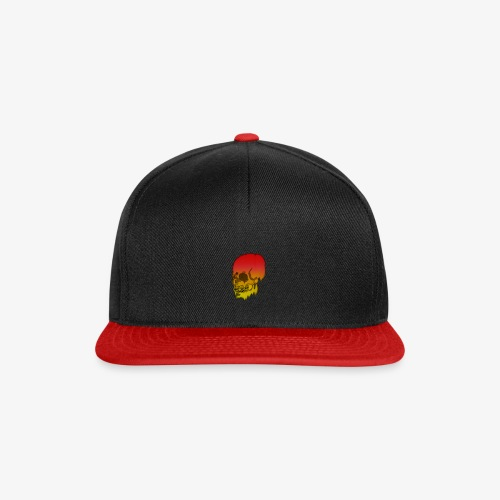 Red and yellow skull melting - Snapback Cap