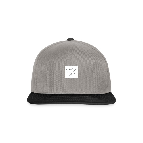 lady t-shirt stick man - Snapback Cap