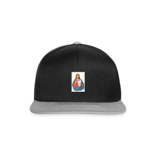 Jesus holding a cup of lean - Snapback Cap