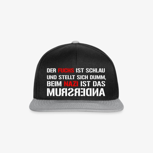 Fuchs und Nazi - Antifa - Snapback Cap