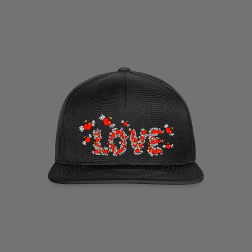 Flying Hearts LOVE - Snapback Cap