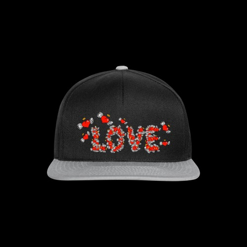 Flying Hearts LOVE - Snapback Cap