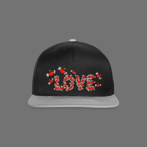 Fliegende Herzen LOVE - Snapback Cap