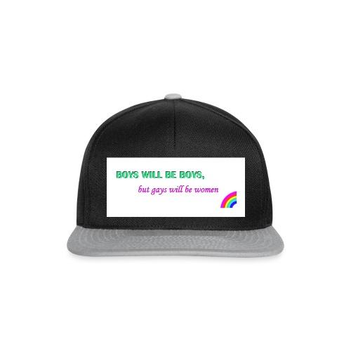 boys will be boys - Snapback Cap
