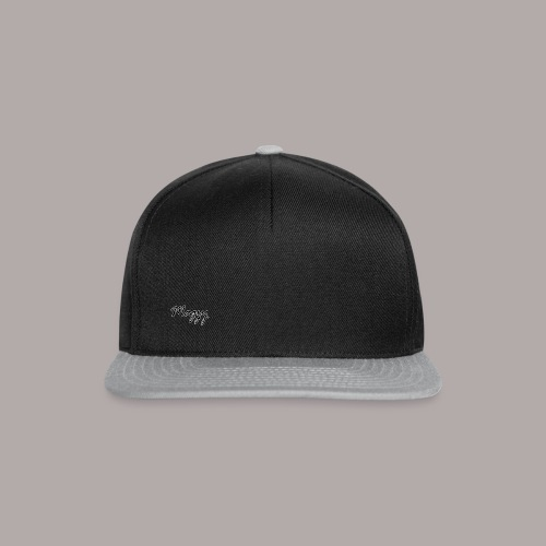 Magzy black and white outline writing - Snapback Cap