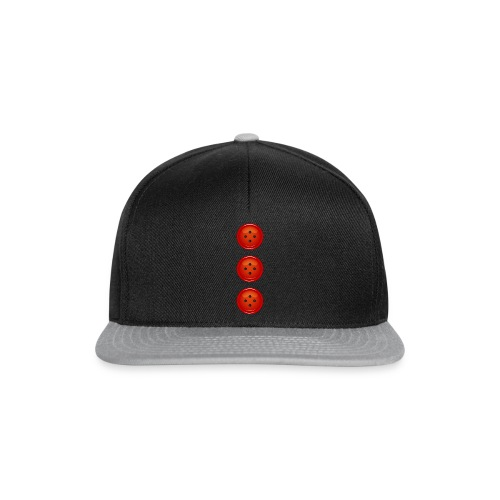 3 rote Knöpfe Knopf Buttons modische Accessoires - Snapback Cap
