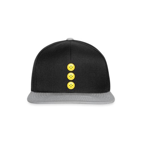 3 gelbe Knöpfe Knopf Buttons modische Accessoires - Snapback Cap