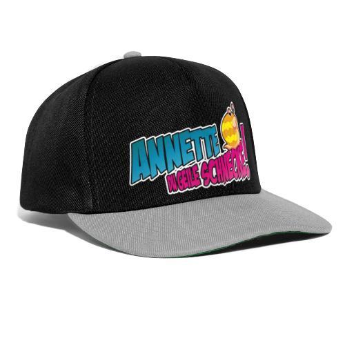 annette logo2_blau - Snapback Cap