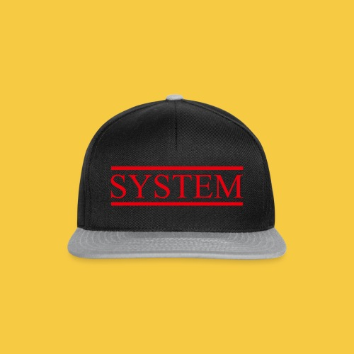 SYSTEM Balken rot - Snapback Cap