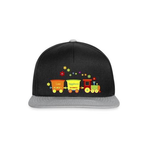 Eisenbahn Kinderspielzeug Zug Frühlingsblumen bunt - Snapback Cap
