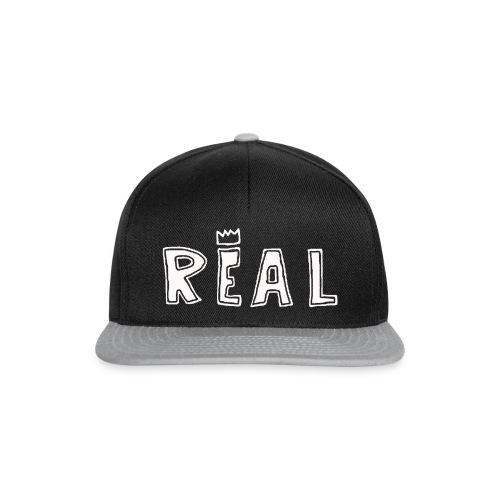 REAL (White) - Snapback cap