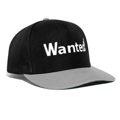 Wanted. weiß - Snapback Cap