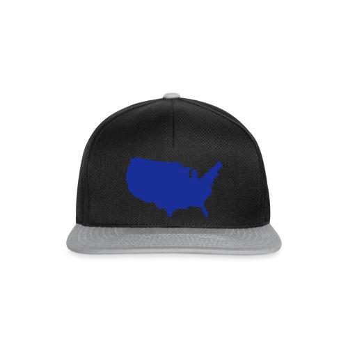 usa map - Snapback Cap