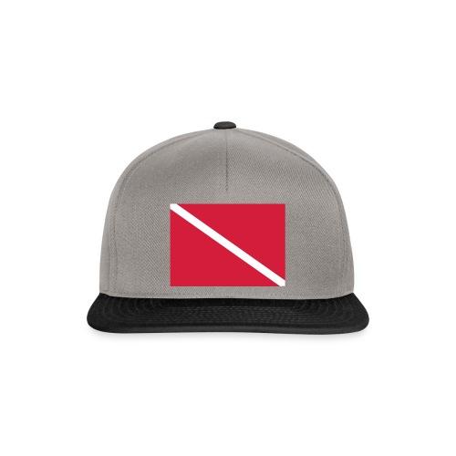 Diver Flag - Snapback Cap