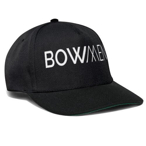 Bowmen Logo Trans weiss - Snapback Cap