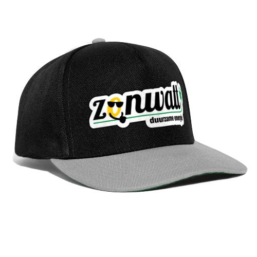 Zonwatt 2020 CMYK outline zwart - Snapback cap