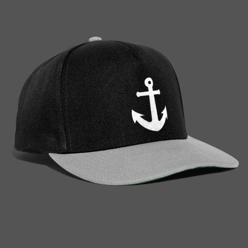 Anker Design T shirt Klassischer weißer Anker - Snapback Cap