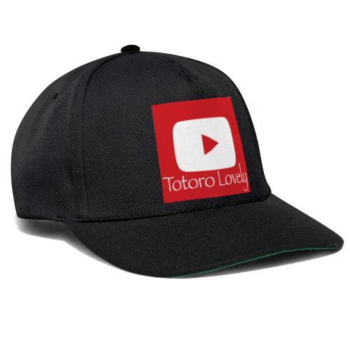 Totoro Lovely + YT logo bak, fram - Snapbackkeps