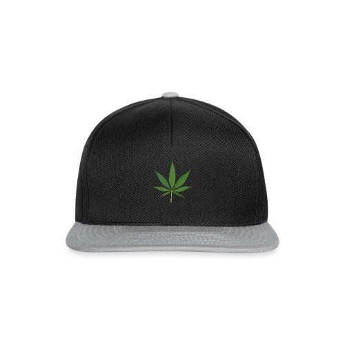 2000px-Cannabis_leaf_2 - Snapback Cap