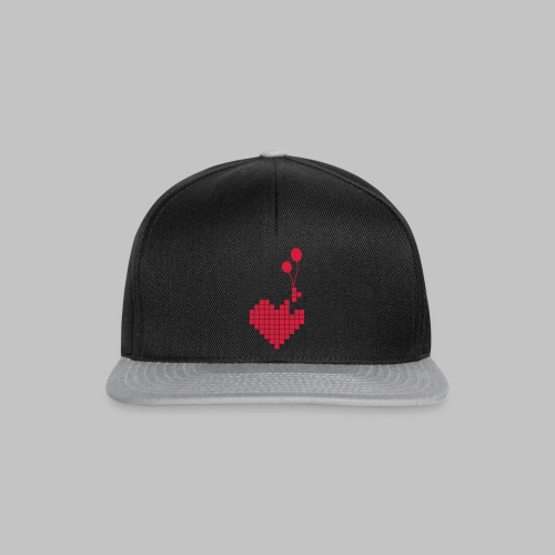 heart and balloons - Snapback Cap
