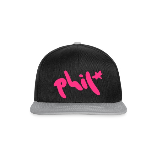 phil splash logo - Snapback Cap