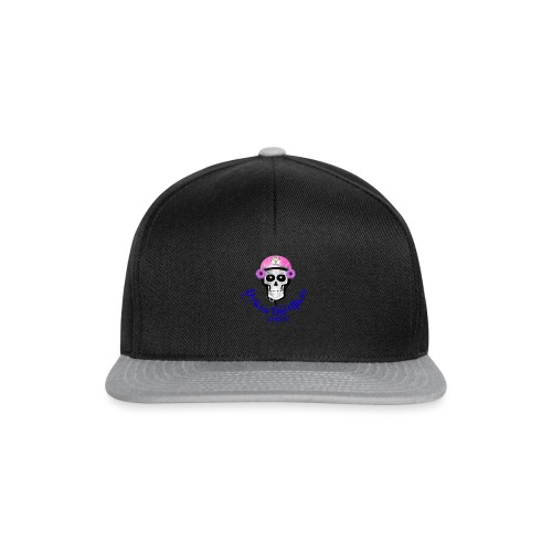 biker skull member with DOB Logos - Snapback Cap