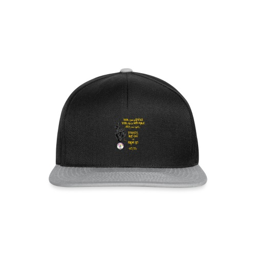 Member no touch YELLOW with DOB Logo - Snapback Cap