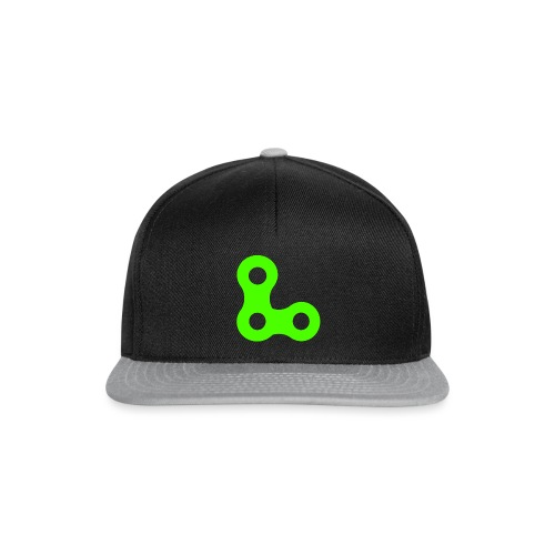 logoblancFluo_Roulons.fr - Casquette snapback