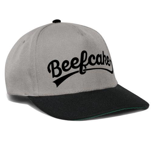 Beefcake text - Snapback Cap