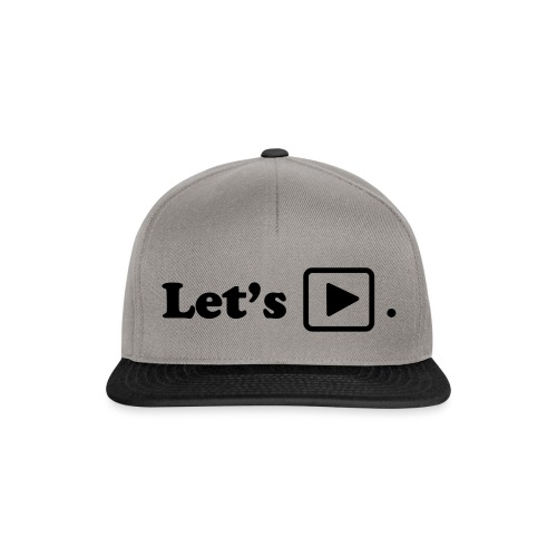 Let's play. - Casquette snapback