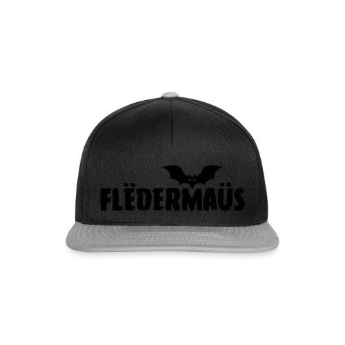 Flëdermaüs - Logo black - Snapback cap