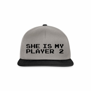 She is my player 2 - Czapka typu snapback