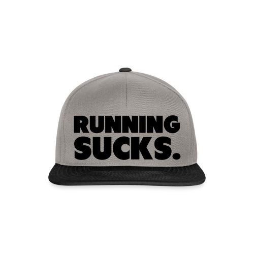 Running Sucks - Snapback Cap