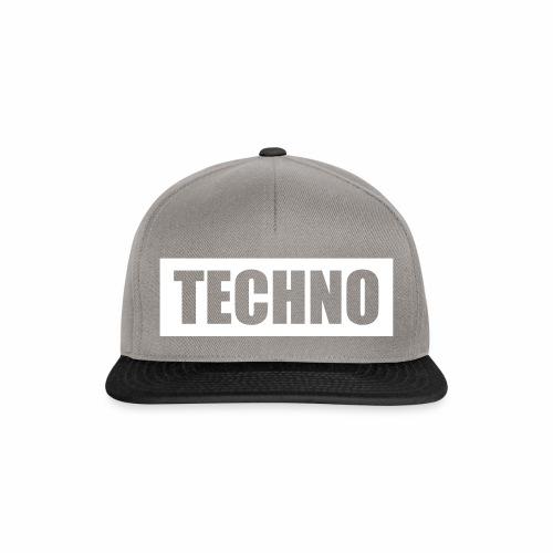 Techno Roter Balken Schriftzug Red Stripes Text - Snapback Cap