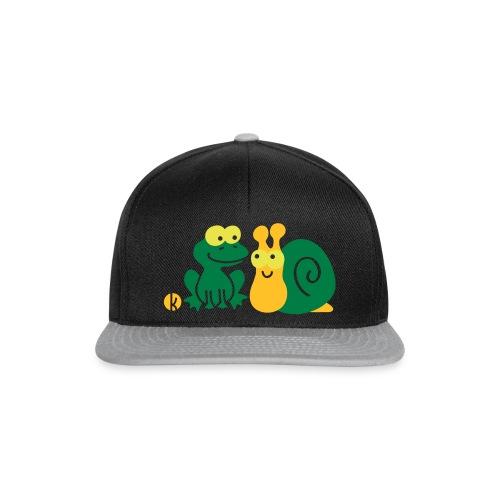 Frosch und Schnecke (c2) Freundschaft - Snapback Cap