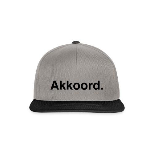 Akkoord - Snapback cap