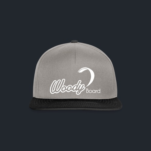 Logo Woodyboard Blanc - Casquette snapback