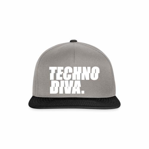 Techno DlVA Rave Princess Hard Techno Kind Music - Snapback Cap