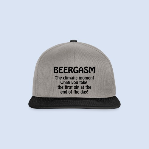 Beergasm - All about Beer - Snapback Cap