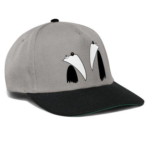 Raving Ravens - black and white 1 - Snapback Cap