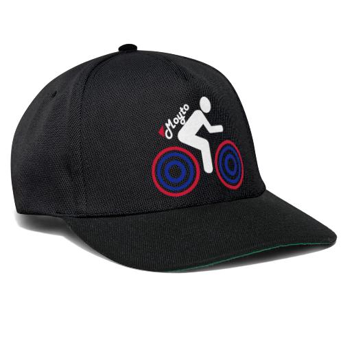 White side moto Premium - Snapback Cap