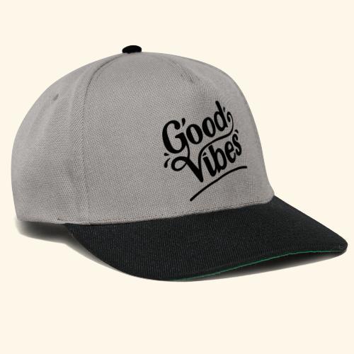 Good Vibes Design - black print - Snapback Cap