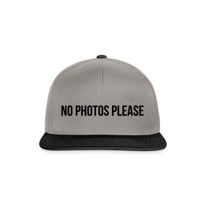 No Photos Please - Snapback Cap