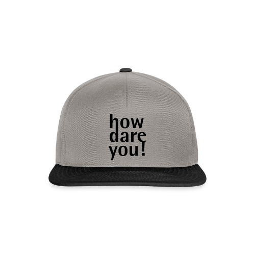 how - Snapback Cap