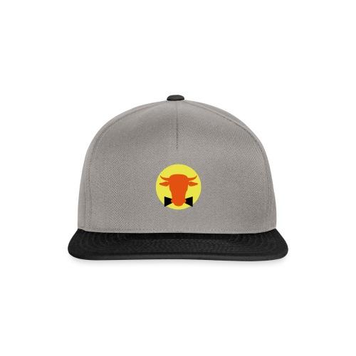 Bullenball Logo rot auf gelb - Snapback Cap