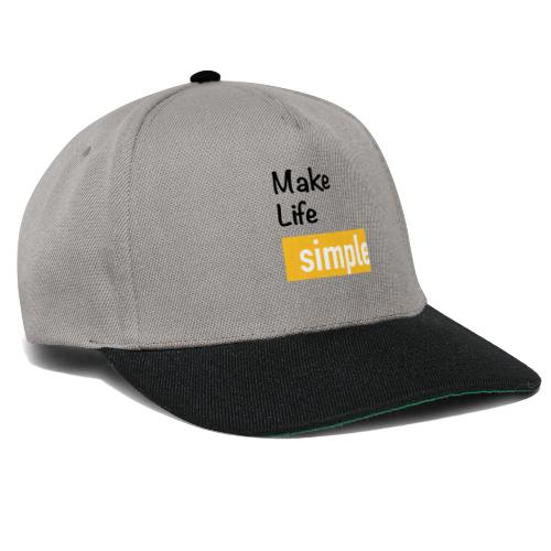 Make Life Simple - Casquette snapback