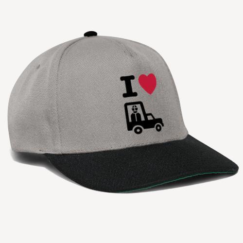 Papst im Auto - Snapback Cap